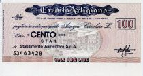 Italy 100 Lire Credito Artigiano - 1977 - Milano - UNC