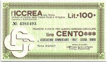 Italy 100 Lire ICCREA - Associazionz Commercianti Forli - 1977 - UNC