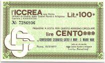 Italy 100 Lire ICCREA - Confesercenti Cesenatico Gatteo a Mare - 1977 - UNC