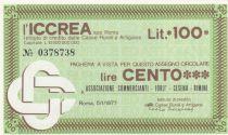 Italy 100 Lire ICCREA - Marketers of REMINI - 1977 - UNC