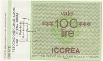Italy 100 Lire ICCREA - Marketers of REMINI - 1977 - UNC