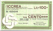 Italy 100 Lire ICCREA - New Jimmy - Discoteque  - 1977 - UNC