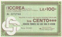 Italy 100 Lire ICCREA - Piemont - 1977 - UNC