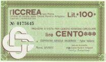 Italy 100 Lire ICCREA - Valdarno - 1977 - UNC