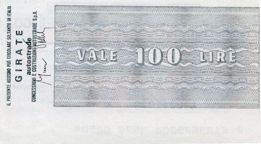 Italy 100 Lire Istituto Bancario Italiano - 1976 - Roma - UNC