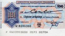 Italy 100 Lire Istituto Bancario Italiano - 1976 - Torino - UNC