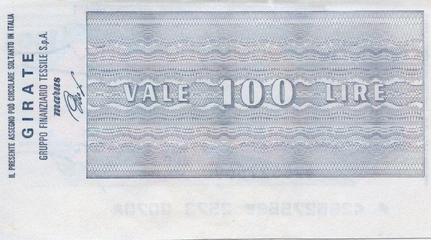 Italy 100 Lire Istituto Bancario Italiano - 1977 - Torino - UNC