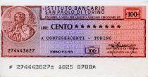 Italy 100 Lire Istituto Bancario San Paolo di Torino - 1976 - Torino - VF