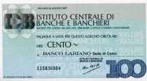 Italy 100 Lire Istituto Centrale di Banche E Banchieri - 1977 - Milano - Banco Lariano - UNC