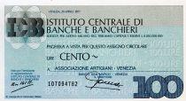 Italy 100 Lire Istituto Centrale di Banche E Banchieri - 1977 - Venezia - UNC