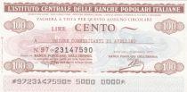 Italy 100 Lire Istituto Generale delle Banche Popolari Italiane - 1977 - UNC - Avelino