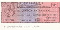 Italy 100 Lires  lIstituto Bancario San Paolo di Torino - 1976 - ANVAD Torino - UNC