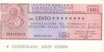 Italy 100 Lires  lIstituto Bancario San Paolo di Torino - 1976 - Genova - UNC