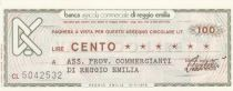 Italy 100 Lires Banca Agricola Commerciale di Reggio Emilia - 1976 - UNC