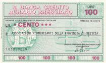 Italy 100 Lires Banca Credito Agrario Bresciano - 1976 - UNC