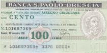 Italy 100 Lires Banca S.Paolo-Brescia - 1976 - UNC