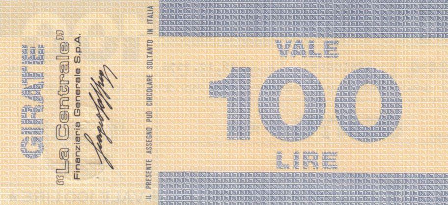 Italy 100 Lires Banco Ambrosiano - 16-12-1976 - UNC
