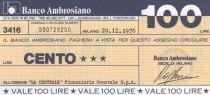 Italy 100 Lires Banco Ambrosiano - 29-12-1976 - UNC