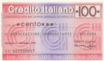 Italy 100 Lires Credito Italiano, 1976 - Bologna - UNC