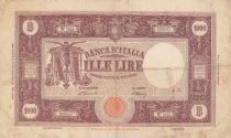 Italie 1000 Lire - Armoiries et Ornements - 1946