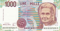 Italy 1000 Lire 1990 - M. Montessori - Students