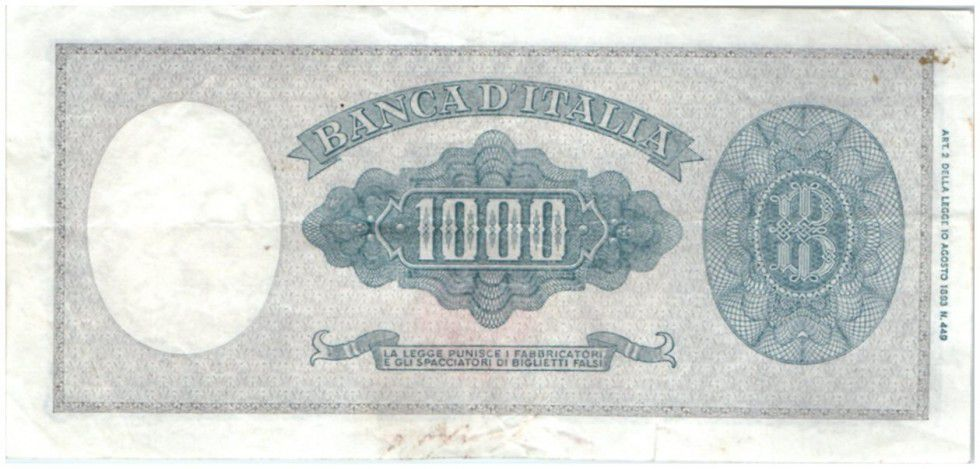 Italy 1000 Lire Italy decorated with pearls
