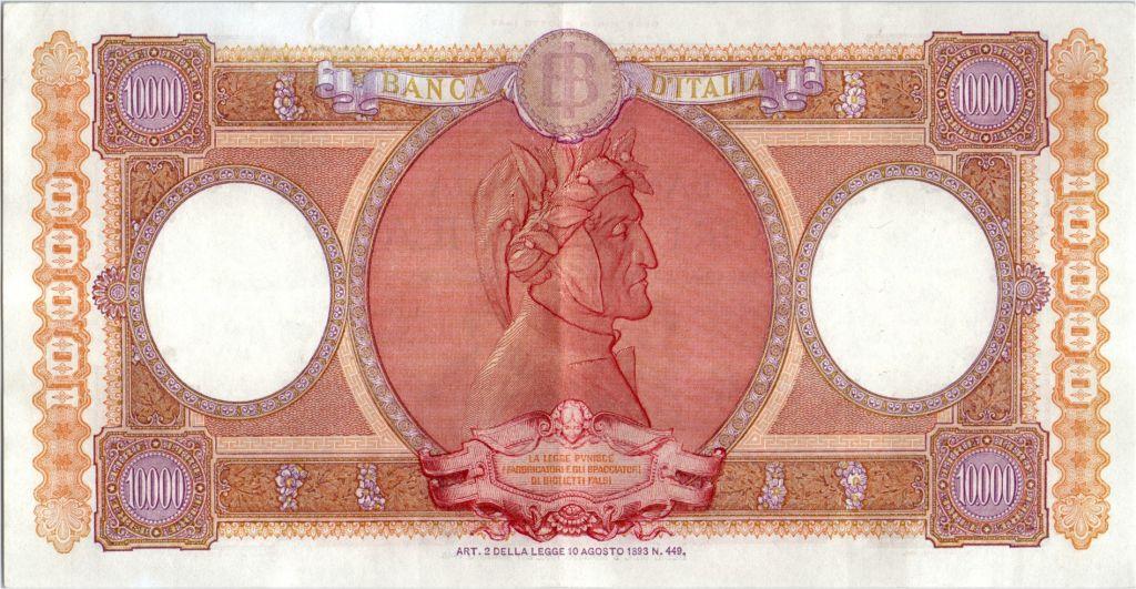 Italy 10000 Lire Venezia & Genova seated - 1952