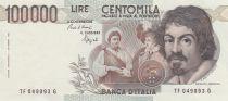 Italy 100000 Lire Caravaggio - 1983 - aUNC- P.110b