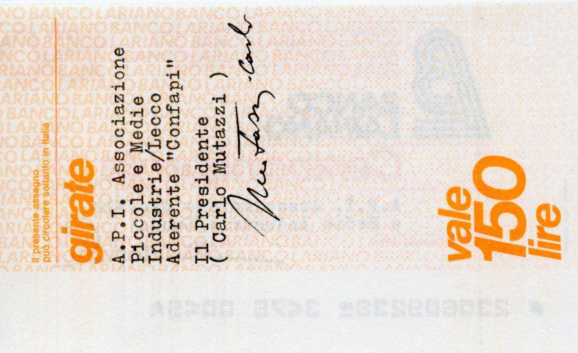 Italy 150 Lire Banco Lariano - 1977 - Lecco - UNC