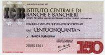 Italy 150 Lire Istituto Centrale di Banche E Banchieri - 1977 - Milano - UNC