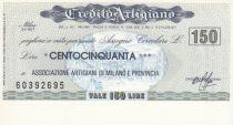 Italy 150 Lires Credito Artigiano -  1976 - UNC
