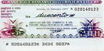 Italy 200 Lire Banco di Chiavari e della Riviera Ligure - 1977 - Genova - UNC