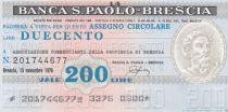 Italy 200 Lires Banca S.Paolo-Brescia - 1976  - UNC