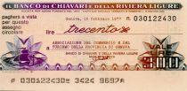 Italy 300 Lire Banco di Chiavari e della Riviera Ligure - 1977 - Genova - UNC