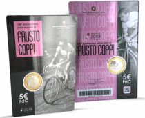Italy 5 Euro Fausto Coppi - 2019 - in folder