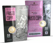 Italy 5 Euro Fausto Coppi - 2019 - in folder