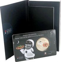 Italy 5 Euro Pizza Mozzarella 2020 - in folder