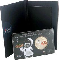Italy 5 Euro Pizza Mozzarella 2020 - in folder