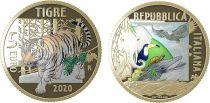 Italy 5 Euro Tiger 2020 - in folder