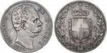 Italy 5 Lire Umberto I - Arms - 1879 R Rome