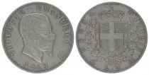 Italy 5 Lire Victor Emmanuel II- Armoiries - 1869