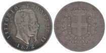 Italy 5 Lire Victor Emmanuel II- Armoiries - 1872