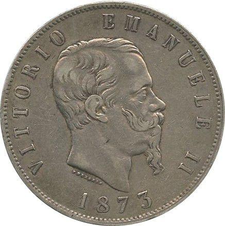 Italy 5 Lire Vittorio Emanuele II - 1873