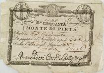 Italy 50 Baiocchi Monte Di Pieta - 1798 - Serial S.1496 - TB