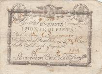 Italy 50 Bajiocchi Monte Di Pieta - 1798 - S.548 - 2nd ex