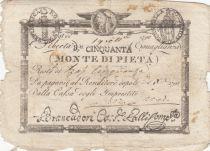 Italy 50 Bajiocchi Monte Di Pieta - 1798 - S.548 - 3nd ex