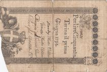 Italy 50 Lire Regie Finanze-Torino - Arms 1794  n°120831