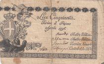Italy 50 Lire Regie Finanze-Torino - Arms 1796 n° 71648
