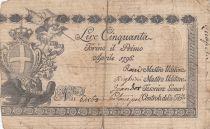 Italie 50 Lire Régie Finanze-Torino - Armoiries 1796 n°64568