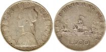 Italy 500 Lire 1959 - Republic, silver